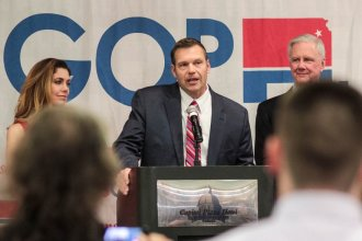 Kris Kobach is running for another office: Kansas attorney general. (Photo by Kansas News Service)