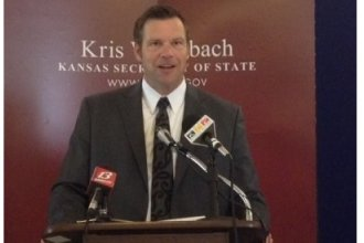 Kansas Secretary of State Kris Kobach (file photo)