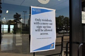 Classrooms and student dorms across Kansas have emptied out ever since classes moved online at state universities weeks ago. (Photo by Celia Llopis-Jepson, Kansas News Service)
