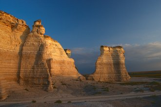 Monument Rocks in western Kansas (Photo by Adam Sparks, Flickr)
