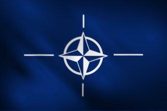 The flag of NATO, North Atlantic Treaty Organization