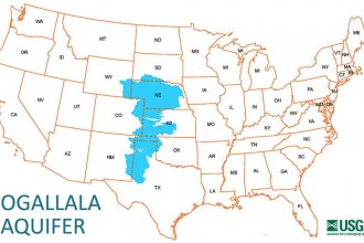 Map of the Ogallala Aquifer