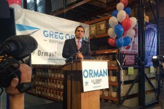 Greg Orman has joined the race to be Kansas governor. In 2014 he challenged Senator Pat Roberts, losing by a 10-point margin. (File Photo: KCUR Radio)