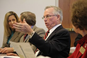 Kansas House Majority Leader Don Hineman, a moderate Republican from Dighton, says Kansas voters sent a message last year that legislators should fix the state budget mess. (photo credit: Kansas News Service file photo)