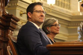 House Speaker Ron Ryckman, left, and Senate President Susan Wagle are leading chambers that could be headed for conflict in the school funding debate. (Photo by Celia Llopis-Jepsen)