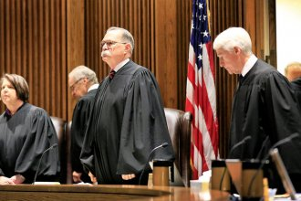 The Kansas Supreme Court ruled Monday that the nearly $300 million school funding increase approved this spring by the Legislature wasn't enough to meet adequacy and equity requirements of the Kansas Constitution.  (Orlin Wagner / Associated Press)