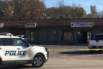 The bar in Lawrence where police say the shooting took place. (Photo by Erica Hunzinger)