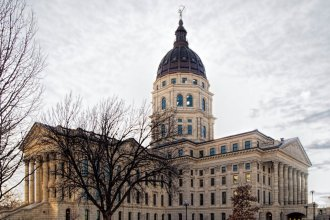 The poll shows low approval ratings for Governor Sam Brownback and the state Legislature. (Photo by Dan Skinner)