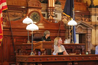 Senate President Susan Wagle presiding over the tax debate. (Photo by Stephen Koranda)