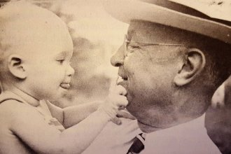 Dane G. Hansen with his nephew, Dane Gray Bales. (Photo Courtesy of Dane G. Hansen Foundation)