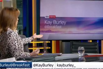 When U.K. Conservative Party Chairman James Cleverly opted not to appear on Kay Burley's morning news program, Burley turned her barrage of questions to the chair where Cleverly wasn't.
