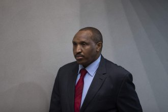"Bosco Ntaganda, the former Congolese militia leader known as ""Terminator,"" awaits his verdict Thursday in the courtroom of the International Criminal Court in The Hague, Netherlands. The warlord would ultimately be sentenced to 30 years in jail for war crimes in the early 2000s."