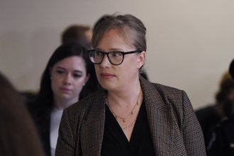 Catherine Croft, a specialist on Ukraine at the State Department, arrives for a closed-door deposition in the House impeachment inquiry.