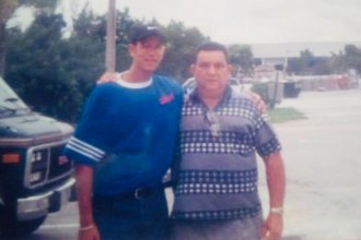 Gustavo Ocando Alex and his dad, Gilberto, in 1999. Last year, his father died of a heart attack at age 81.