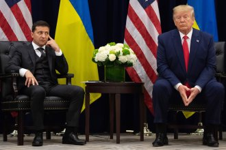 President Trump and Ukrainian President Volodymyr Zelenskiy meet in New York.