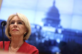 Education Secretary Betsy DeVos appeared Thursday before a hearing of the House Education and Labor Committee in Washington, D.C.