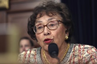 """Congressional negotiators have reached tentative agreement on a $1.3 trillion spending package to fund the government through the end of September 2020. """"I think we can be very proud of the good work that this Congress is doing,"""" Rep. Nita Lowey, seen here in April, said Thursday."""