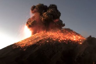"""Officials say threat levels are at a """"yellow phase 2,"""" and are warning people to stay away from the volcano and its crater """"due to the danger of falling ballistic fragments."""""""