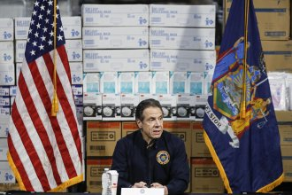 """""""We haven't flattened the curve, and the curve is actually increasing,"""" New York Gov. Andrew Cuomo said of new coronavirus cases Tuesday. Cuomo said his state now has more than 25,000 cases, as he gave an update on the COVID-19 outbreak at a news conference at Manhattan's Javits Center, which will house a temporary hospital."""