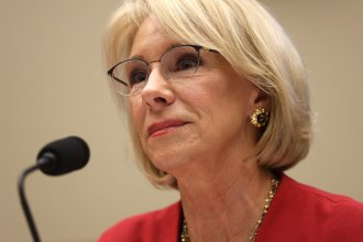 U.S. Secretary of Education Betsy DeVos testifies on Capitol Hill on Dec. 12.