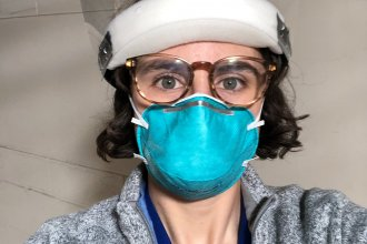 Gabrielle Mayer graduated from medical school in April and began her residency early so she could help care for patients with COVID-19.
