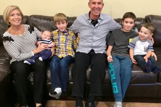 Denise and Richard Victor of Bloomfield Hills, Mich., have been missing their grandkids, whom they haven't seen since February. Before the pandemic, they had regular visits with grandsons (from left) Daren Cosola, Stirling Victor, Davis Victor and Lucas Cosola.