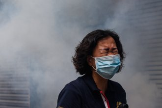 Hong Kong police fired tear gas, pepper spray and water cannons as thousands of protesters rallied against proposed security measures aimed at tightening Beijing's grip on the semi-autonomous territory.