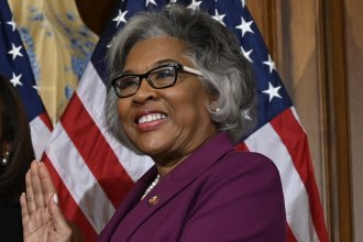 """Rep. Joyce Beatty, (D-Ohio), who was pepper-sprayed at a demonstration Saturday, said she understands sentiments that attempting to have a """"healthy dialogue"""" haven't worked, but that """"violence doesn't work — violence either way."""""""
