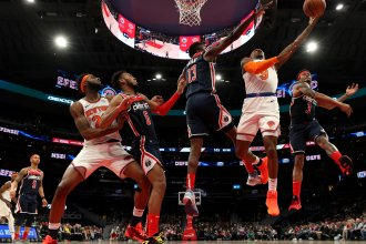 The New York Knicks and Washington Wizards square off on March 10, the day before the NBA suspended its season because of the coronavirus.