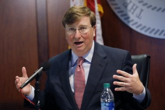 Mississippi Gov. Tate Reeves announced on Tuesday that masks will temporarily be required statewide and certain school districts must delay the start of in-person instruction. The state is ranked second for number of new cases per capita.
