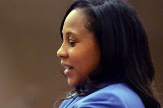 Fani Willis is poised to become the next Fulton County District Attorney after winning a runoff election against her former boss on Tuesday. Willis is seen here in 2014 during the trial of 12 former Atlanta Public Schools educators accused in a conspiracy to inflate state test scores.