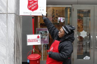 The Salvation Army's red-kettle campaign is expecting fewer donations and volunteers this year as a result of the coronavirus pandemic.
