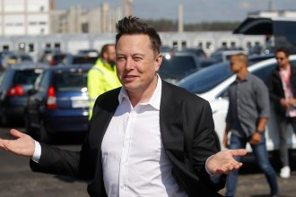 Tesla CEO Elon Musk visits the construction site of a future Tesla plant near Berlin on Sept. 3. Musk is now the world's second-richest person, according to the Bloomberg Billionaires Index.