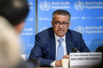 "World Health Organization Director-General Tedros Adhanom Ghebreyesus was one of many global health leaders who spoke bluntly about the coronavirus pandemic at annual meetings that conclude on Tuesday. Discussing the lack of priority given to vaccines for poor countries, he stated, ""The world is on the brink of a catastrophic moral failure."""
