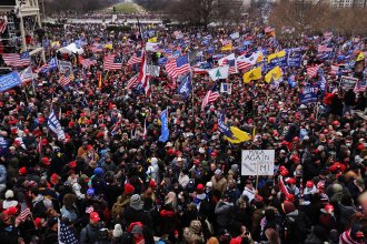 Thousands of Trump supporters gather outside the U.S. Capitol following a Stop the Steal rally on Jan. 6. They stormed the historic building, breaking windows and clashing with police. Nearly two months later, some 250 rioters are facing charges, including Richard Michetti of Pennsylvania, whose ex-girlfriend turned him in.