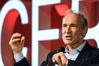 British computer scientist Tim Berners-Lee is selling the source code for the World Wide Web as an NFT. Here, Berners-Lee delivers a speech during an event at the CERN in Meyrin near Geneva, Switzerland.