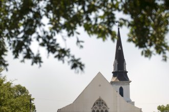 A view of the Emanuel AME Church is seen June 18, 2015, in Charleston, S.C.