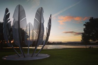 The Kindred Spirits sculpture in Midleton, County Cork, Ireland, pays tribute to a gift from the Choctaw nation to help during the 19th century potato famine. Ireland paid it back with donations to the Navajo and Hopi nations to help them during the pandemic.