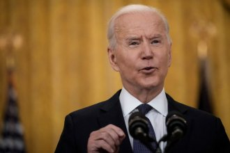 President Biden delivers remarks on the economy Monday in the East Room of the White House, pushing back on critics who say the American Rescue Plan is making the economy worse.