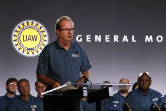 The United Auto Workers said on Sunday that a nationwide strike will begin before midnight. The move comes after the union and General Motors failed to agree on a new contract.