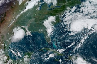 Parts of Texas and Louisiana are under flash flood warnings from Tropical Depression Imelda. Out in the Atlantic, Hurricane Humberto is forecast to pass close to Bermuda.