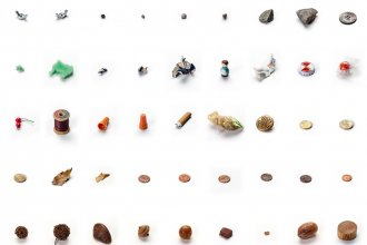 """A piece by conceptual artist Lenka Clayton called """"63 Objects Taken from My Son's Mouth."""""""