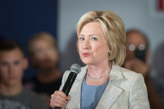 Democratic presidential hopeful Hillary Clinton at a campaign event in Iowa earlier this week.