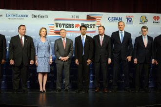 There are just so many GOP presidential candidates...can we really tell who leads whom right now?
