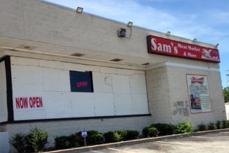 Sam's Meat Market was looted and vandalized at least three times during the unrest in Ferguson, Mo., last year.