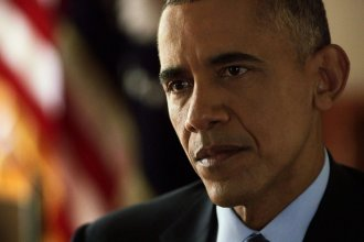 Photo of President Obama taken at the White House during an interview recorded last week with NPR <em>Morning Edition</em> host Steve Inskeep.