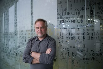 Eugene Kaspersky, founder and chief executive officer of Kaspersky Lab, at his office in Moscow last Dec. 9. Kaspersky and his firm have ties to the Russian government, but say that should not be cause for concern in the West, where the company's cybersecurity software is widely used.