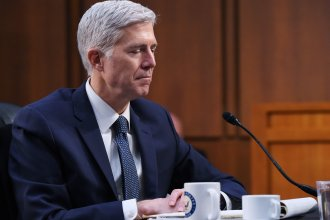 Neil Gorsuch testifies Wednesday before the Senate Judiciary Committee during a hearing on his nomination to the U.S. Supreme Court.
