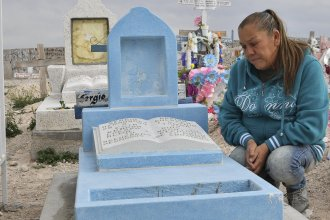 Maria Guadalupe Guereca, 60, visits the grave of her son Sergio Hernandez Guereca at the Jardines del Recuerdo cemetery in Juarez, Mexico, earlier this year. Her son was shot by a U.S. agent across the border in 2010.