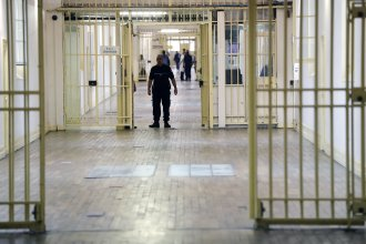 An officer stands at the Fresnes Prison in France in September 2016. Fresnes was the first French prison to separate radicalized inmates from the general prison population.